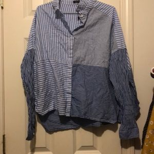 NWOT multi pattern button down